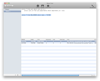 MacSequel – A native MAC OSX GUI query tool for Oracle « Kaushik